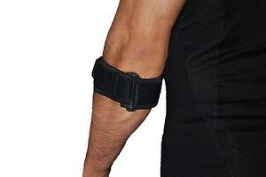 Black Tennis Elbow Support Strap Brace Pain Strain Pad Golfer Epicondylitis NHS