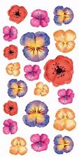 "13341-AC New Design Hand Painted Flower 3-1/2"" X 7-1/4"" Sheet Ceramic Decals Dx"