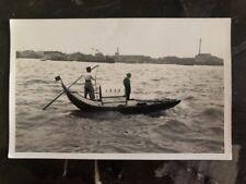 Mint Shanghai China RPPC Postcard Sampan Boat