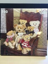 Vintage 1989 The Puzzle Collection-Teddy Bears In Chair 550 piece puzzle 20 X 20