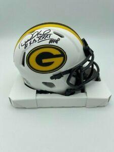 Desmond Howard Signed Green Bay Packers Mini Helmet SB XXXI MVP Lunar Eclipse