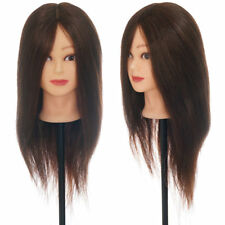 "90% 22"" Real Hair Practice Training Head Mannequin Hairdressing Doll with Clamp"