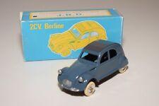 TT 1:43 JRD J.R.D. CITROEN 2CV 2 CV BERLINE BLUE WITH GREY ROOF MINT BOXED