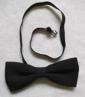 Vintage Bow Tie MENS Dickie Bowtie Retro Adjustable BLACK NARROW