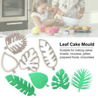 4Pcs Tropical Leaf Fondant Cake Mold Embossed Candy Biscuits Cookie Cutter Moul