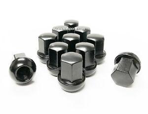 20x Black Porsche OEM Lug Nuts 14x1.5 Radius Seat Fits 911 928 924 944 964 993