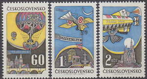 CZECHOSLOVAKIA - 1968 COMPLETE AIR SET BALLOON Mi. 1787-1769 Sc C72-C74 - **MNH