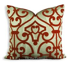 Dedar Pavillon Moire Luxury Designer Orange Geometric Cushion Pillow Cover