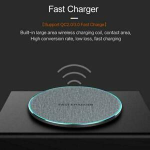 10W Qi Wireless Charger Charging Pad Mat For iPhone 12Pro 8Plus Max XR X XS O9D2