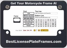 Motorcycle CNC Machined Anodized Aluminum License Plate Frame - Black Edition
