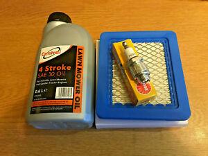 MOUNTFIELD SP550 Lawnmower Service Kit. Air Filter & Spark Plug Engine oil