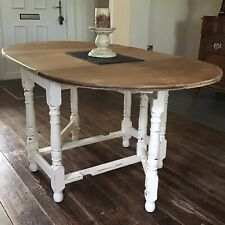 Dining table Solid Oak   painted Shabby Chic seats 6 very heavy.