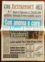 TUTTOSPORT 11 05 1987 PRIMO SCUDETTO DEL NAPOLI MARADONA FERLAINO MAGGIO