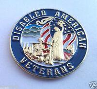 DISABLED AMERICAN VETERANS  Military Veteran Hero Hat Pin P62559 EE