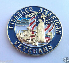 DISABLED AMERICAN VETERANS  Military Veteran Hero Hat Pin P62559 EE