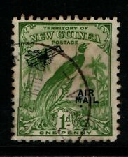 New Guinea PNG 1932 1d Bird of Paradise Air Mail SG191 Used