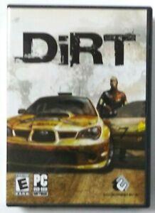 DiRT PC DVD-ROM WTH MANUAL!! Codemasters Ingenious Games Rally Race 2006 (G)