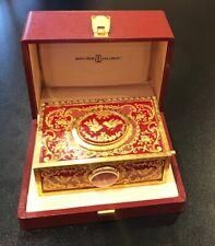 More details for reuge halcyon days enamel singing bird box excelent condition