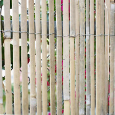 New listing 6 ft. H x 16 ft. L Natural Raw Split Bamboo Slat Fencing