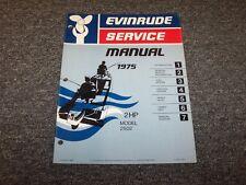 1975 Evinrude 2 HP Outboard Motor Shop Service Repair Manual Guide Book