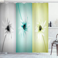 Abstract Shower Curtain Different Daisy Flower Print for Bathroom