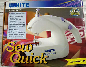 WHITE (SEW QUICK) MODEL SC 10...Tested Sewing machine 2004 as seen on TV