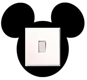 Disney Mickey Mouse Light Switch, Sticker Door Decal Sticker Choose Colour