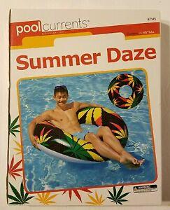 "PoolCurrents by PoolMaster Summer Daze Hemp Leaf Motif 48"" Pool Float Inner Tube"