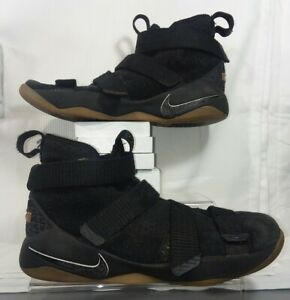 NIKE ZOOM LEBRON SOLDIER XI, 918369-007, BLACK, BASKETBALL SHOES, YOUTH SIZE 6Y