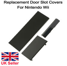 Nintendo Wii Console Door Cover Kit Flap Black Replacement Panel Covers Set of 3