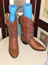 Dan Post Dpp834 Peanut Brittle Quill Ostrich Western Cowboy Boots Sz 8B