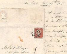 Bk23 1843 Gb Maltese Cross *Manchester* Mx E&Letter Sheffield Sg.8 Cat £175+ Pts