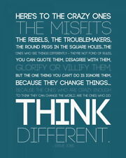 """058 Steve Jobs - Apple RIP Think Different Great Inventor 24""""x30"""" Poster"""