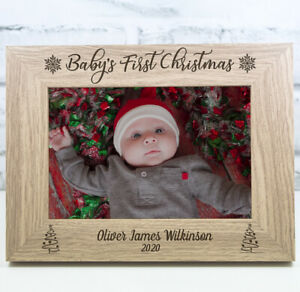 First Christmas Photo Frame Baby's First Christmas Gift My First Christmas