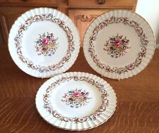 3 ROYAL WORCESTER CHINA  BOURNEMOUTH PATTERN DINNER PLATES EXCELLENT CONDITION