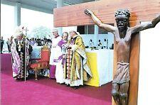 551- CARTE  VATICAN VISITE PAPE JEAN PAUL  II   AU  NIGERIA