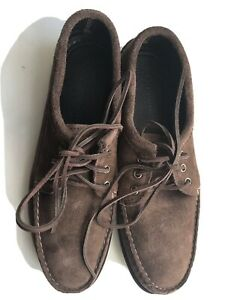 Quoddy Blucher Brown Suede Moccasin Shoes- UK 10, US11