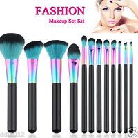 12pc Multi-colour Natural Animal Hair Eyeshadow Powder Blusher Makeup Brushes