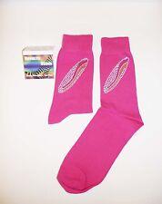 Bright Pink Bling Surf board Design Socks.