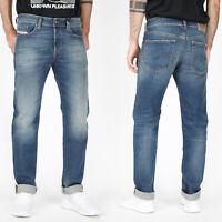 Diesel Herren Regular Slim Tapered Fit Stretch Jeans Hose - Buster R9C80