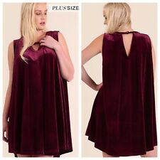 WOMENS PLUS DRESS 2X NEW UMGEE VELVET XXL 18 20 NWT SWING VALENTINES DAY DEAL