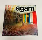 """YAACOV AGAM """"AGAM"""" HARDCOVER BOOK WITH COLOR PAGES HAND SIGNED ENVELOPE INCLUDED"""