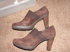 worn once size 6 Geox Respira dark brown smart suede shoe boot, were £85