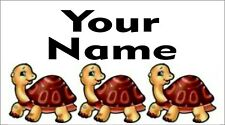 65 Personalised waterproof school name label sticker Turtle for shoes,bottle