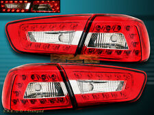2008-11 MITSUBISHI LANCER / EVOLUTION RED CLEAR LED TAIL LIGHTS 4PCS NEW