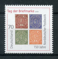 Germany 2018 MNH Day of Stamp Postbezirk 1v Set Stamps-on-Stamps Stamps