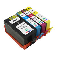 4PK Remanufactured for HP 902XL Ink Cartridge BK/C/M/Y High Yield High Capacity