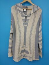 NWT Indigenous Designs Women's Sweater Hooded Poncho XL 100% Organic Cotton Baja