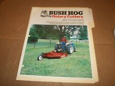 PY114) Bush Hog Sales Brochure 4 Pages - Squealer Rotary Cutters