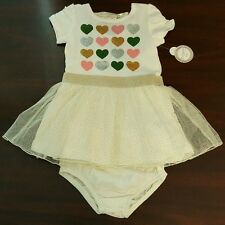 Dress Tutu Hearts Sparkles w/ Bloomers Baby Piper Size 24 Months- NEW